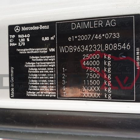 DEZMEMBRARI CAMIOANE MERCEDES ACTROS   MP4   WDB9634232L808546