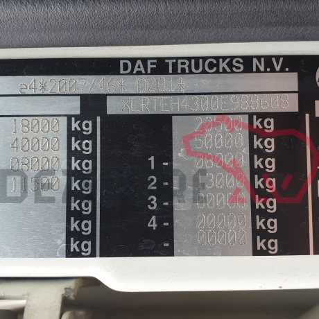 DEZMEMBRARI CAMIOANE DAF XF EURO 6   XLRTEH4300E988608