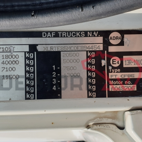 DEZMEMBRARI CAMIOANE DAF CF85 | XLRTE85MC0E894454
